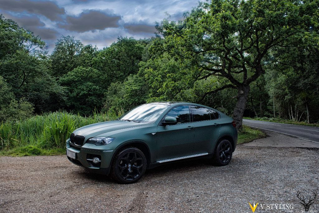 Bmw X6 Wrapped In 3m Matte Pine Green V Styling